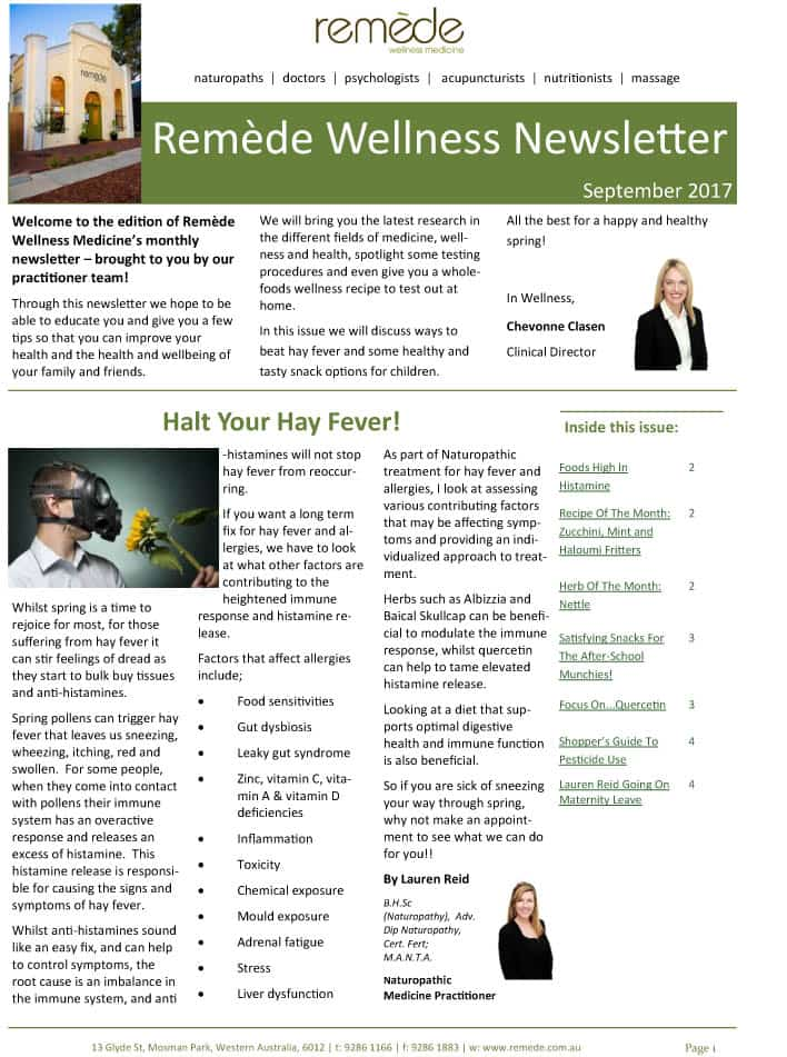 Remede-wellness-medicine-newsletter