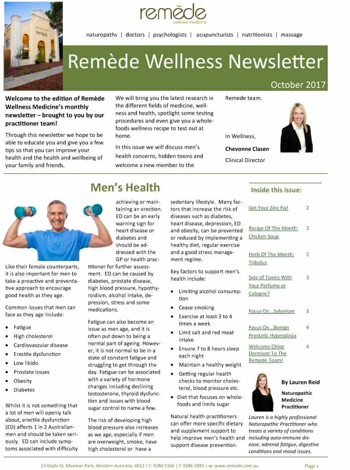 remede-wellness-newsletter-men's-health